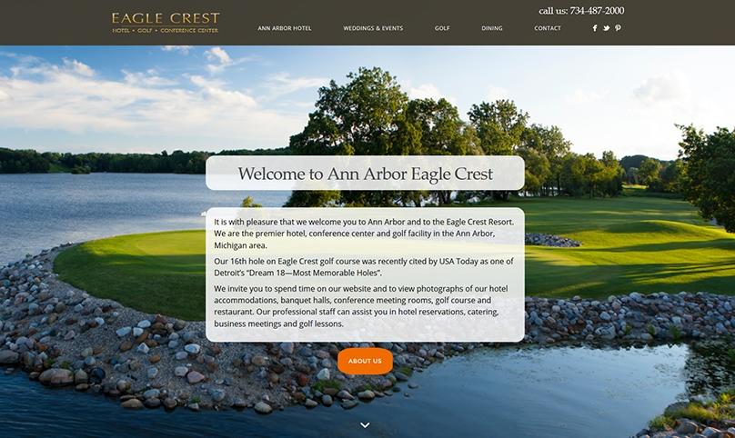 web design for marriott hotel