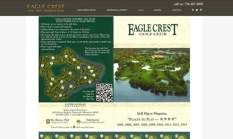 golf resort in ann arbor web design